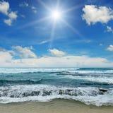 Sun over sea Royalty Free Stock Image