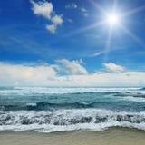 Sun over sea Royalty Free Stock Photo