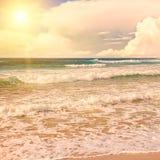 Sun over sea Stock Image