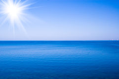 Sun over sea Royalty Free Stock Image