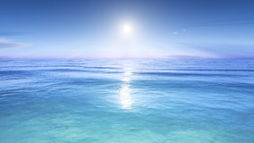 Sun over the sea Royalty Free Stock Image