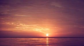 Sun over the sea Stock Photo