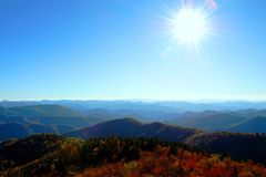Sun over the Smokey Mountains Royalty Free Stock Photos