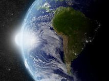 Sun over South America Stock Image