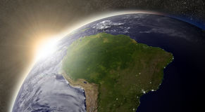 Sun over South America Royalty Free Stock Photo