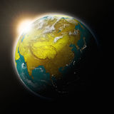 Sun over Southeast Asia on planet Earth Royalty Free Stock Photos