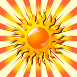 Sun over starry background Royalty Free Stock Image