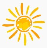 Sun painted illustration Royalty Free Stock Photo