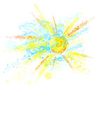 Sun painted with paint Royalty Free Stock Images