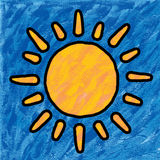 Sun painting Stock Photography