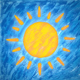 Sun painting Stock Photos