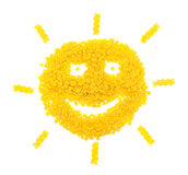 Sun from pasta royalty free stock images