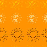 Sun pattern Royalty Free Stock Photography