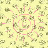 Sun pattern royalty free stock photos