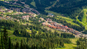 Sun Peaks Village seen from the Chairlift Royalty Free Stock Photos