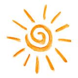 Sun a peint avec la peinture Photographie stock