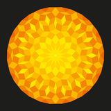 Sun from a Penrose Pattern On Black Background Royalty Free Stock Image