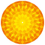 Sun from a Penrose Pattern. A specific geometric figure in mathematics. Non-periodic tiling generated by an aperiodic set of prototiles. Illustration on white Stock Photos