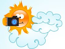 Sun photographs Stock Image