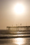 Sun Pier and Ocean Stock Photo