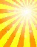 Sun pixel background Royalty Free Stock Photo