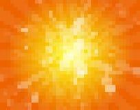 Sun pixel background Stock Photo