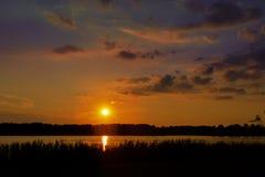 Sun a placé chez Reed Bingham State Park Images libres de droits