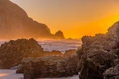 Sun a placé dans l'Algarve Photographie stock