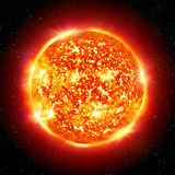 Sun planet. In the space Stock Photography