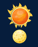Sun planet star vector illustration. Stock Image
