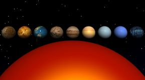 Sun and planets Royalty Free Stock Photography