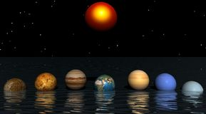 Sun and planets Royalty Free Stock Image