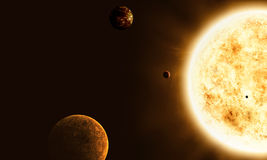 Sun And Planets Stock Images