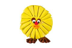 Sun of plasticine Royalty Free Stock Image