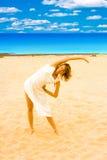 Sun, playa, ejercicio Imagen de archivo