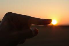 Sun pointing Royalty Free Stock Photos