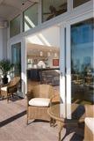 Sun porch and interior stock photo