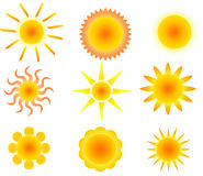 Sun - positionnement Images stock