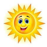 Sun postać z kreskówki Fotografia Stock