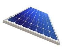 Sun-power plant isolated stock photo