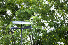SUN POWER Solar Street Light Royalty Free Stock Image