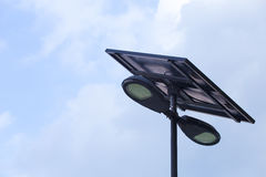 SUN POWER Solar Street Light Stock Images