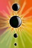 Sun preto Imagens de Stock Royalty Free