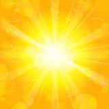 Sun - priorità bassa Fotografie Stock
