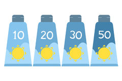 Sun protect bottle lotion Stock Images