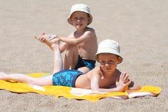 Sun protection Stock Photos