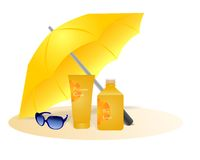 Sun protection, cdr vector Stock Images