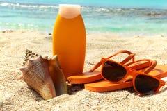 Sun protection cream Royalty Free Stock Image