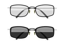 Sun-protection glasses. Eps10  illustration.  on white background Royalty Free Stock Images