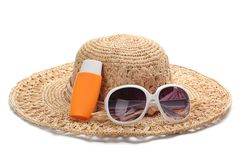 Sun Protection in Summer. Royalty Free Stock Images